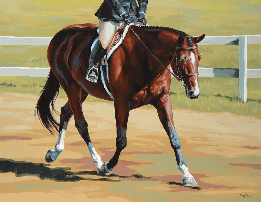 Horse Painting - Hunter by Lesley Alexander