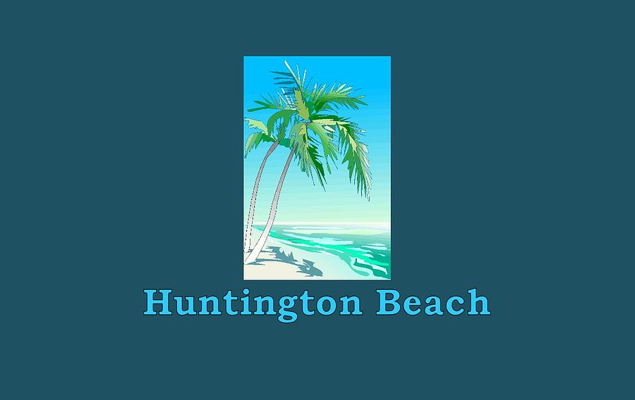Huntington Beach Wall Decor : Huntington beach digital art by brian s t shirts