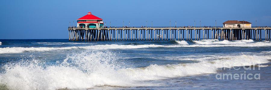 Huntington Beach Pier Panoramic Photo Photograph