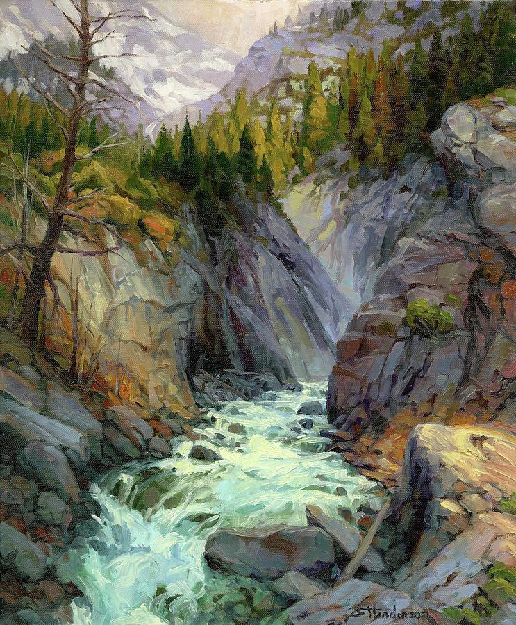 River Painting - Hurricane River by Steve Henderson