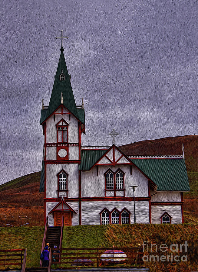 Husavik Church Iceland Photograph