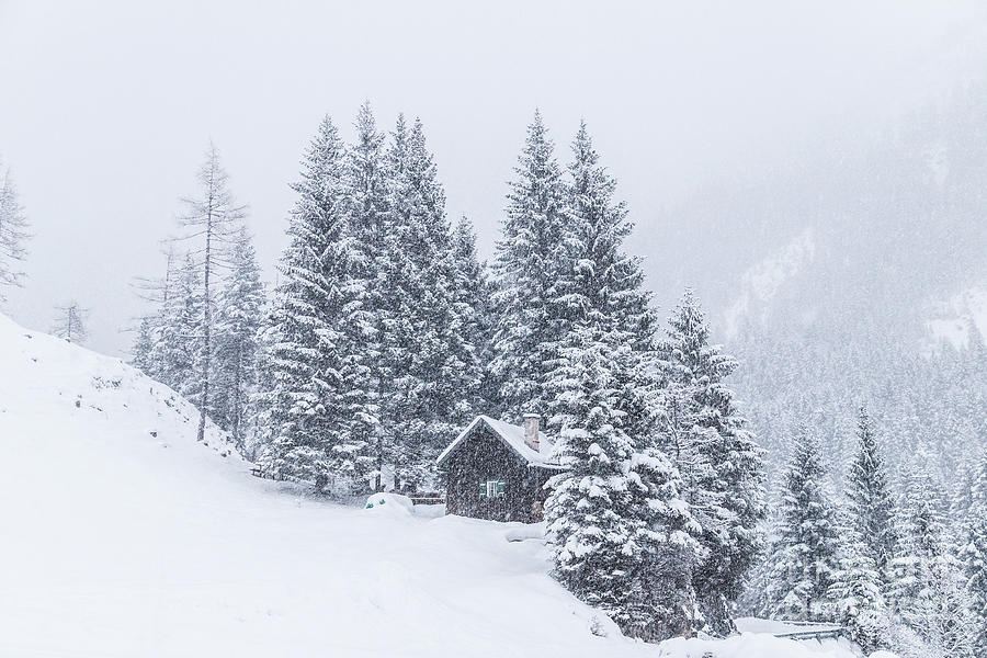 Horizontal Photograph - Huts And Winter Landscapes by Travel and Destinations - By Mike Clegg