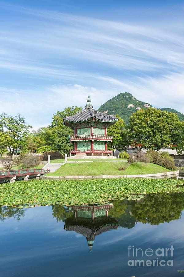Hyangwonjeong, Gyeongbokgung, Seoul, South Korea by Ken Brown