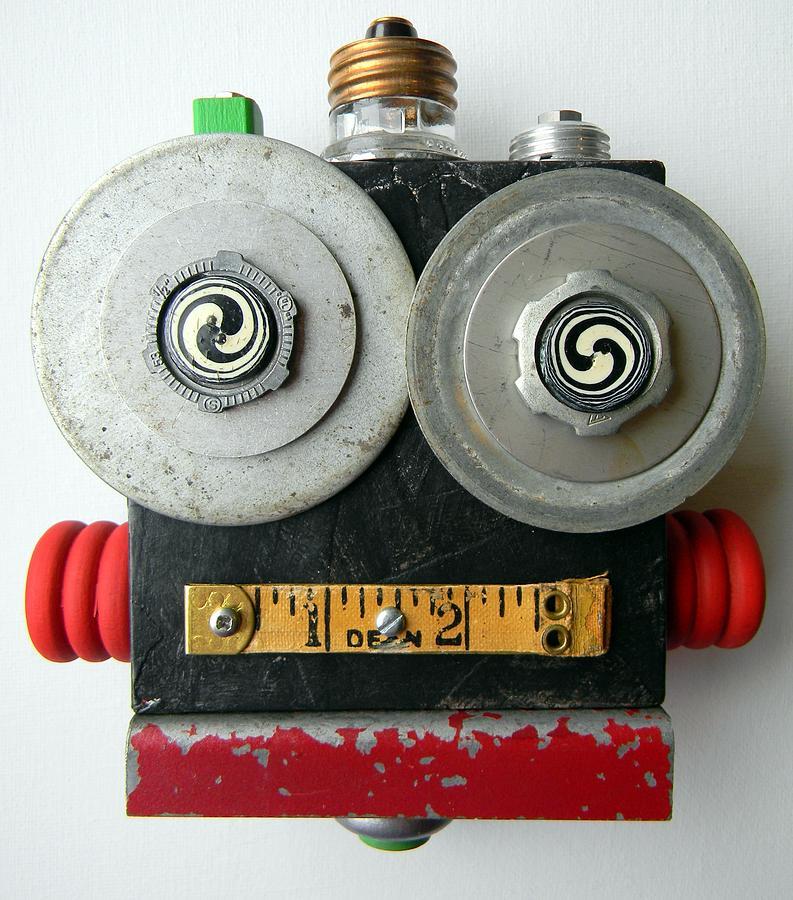 Hypno Bot Mixed Media - Hypno Bot by Jen Hardwick