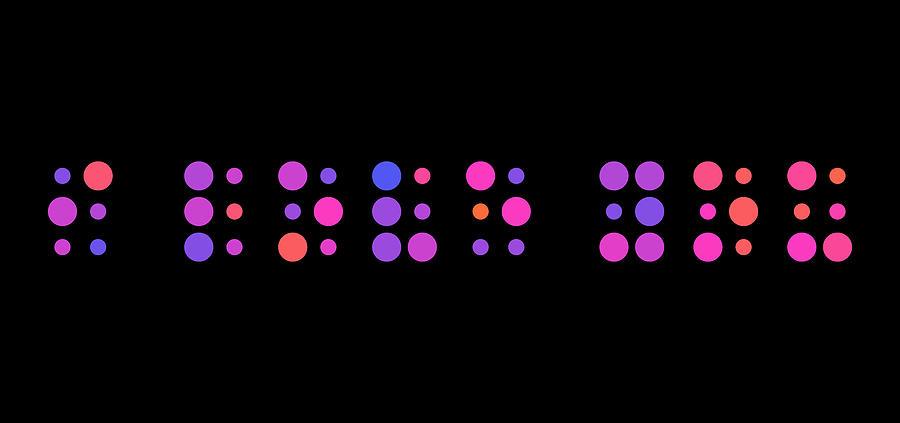 I Love You Digital Art - I Love You - Braille by Michael Tompsett