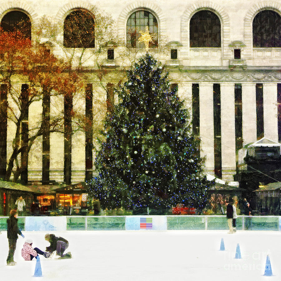 Xmas Tree Photograph - Ice Skating During The Holiday Season by Nishanth Gopinathan