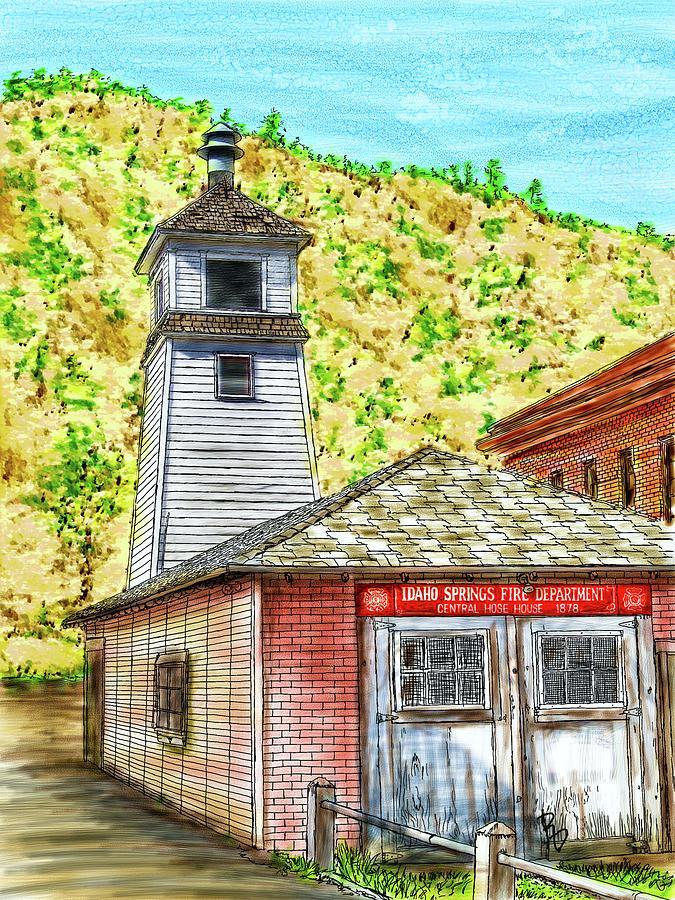 Idaho Springs Firehouse by Ric Darrell