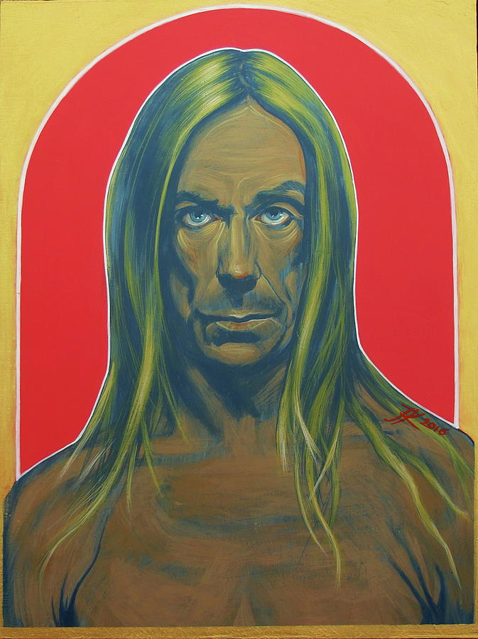 Iggy Pop Painting - Iggy Pop by Jovana Kolic