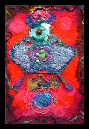 Felt Painting - Ikon I by Sylvia Greer