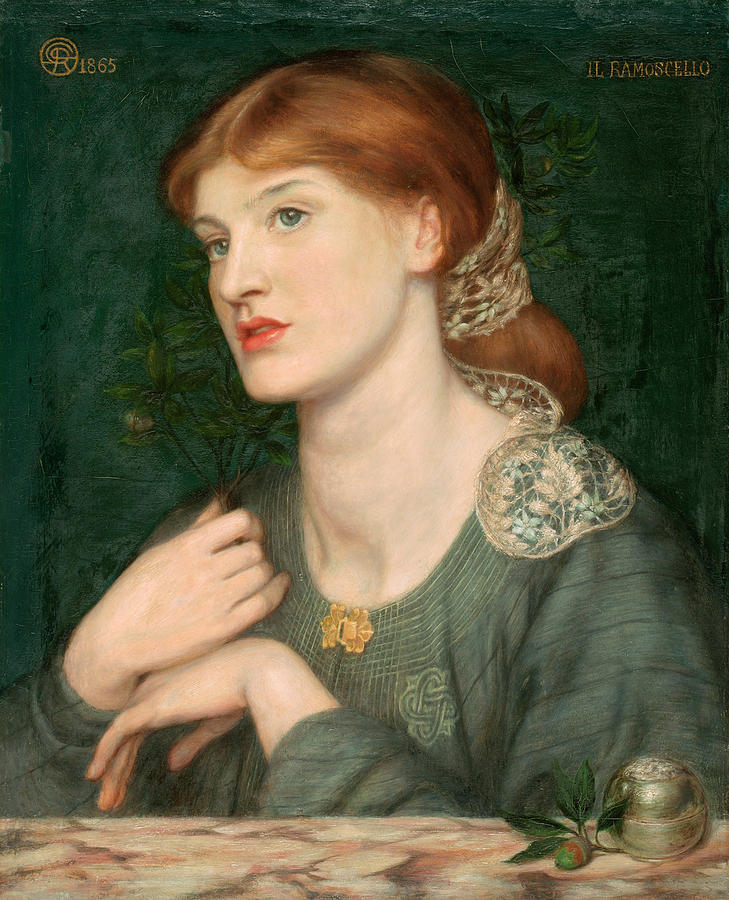 Chestnut Hair Painting - Il Ramoscello by Dante Gabriel Rossetti