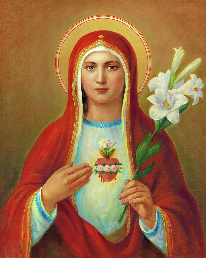 Immaculate Heart Painting - Immaculate Heart Of Mary by Svitozar Nenyuk
