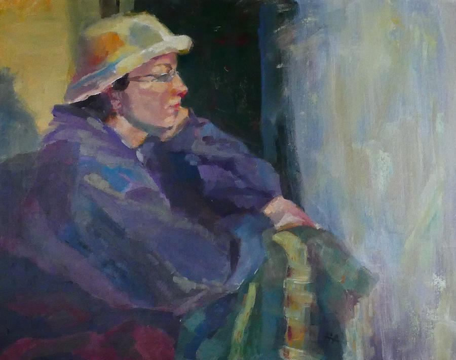 Girl Painting - Impatient Rain by Irena Jablonski