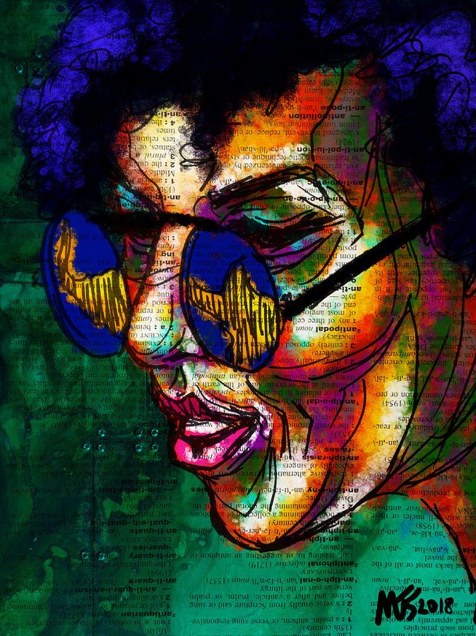 Portrait Digital Art - In The Shade by Michael Kallstrom