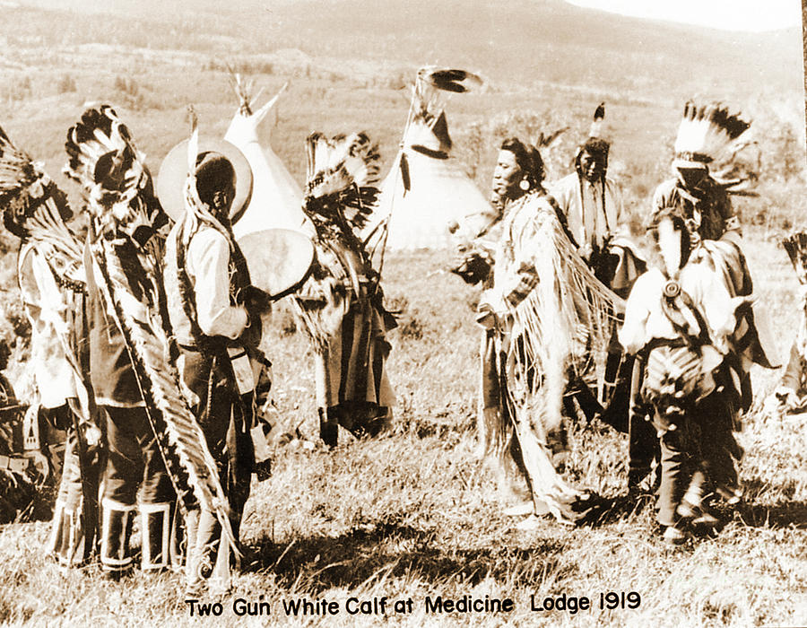Native Photograph - Indian Council by Gary Wonning