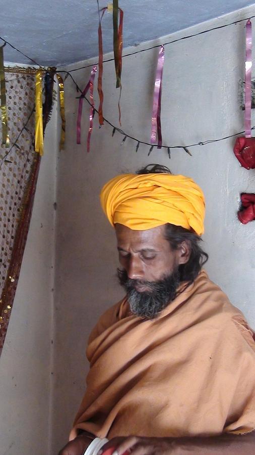 Indian Sadhu Photograph - Indian Sadhu by Lalitmohan Khungar