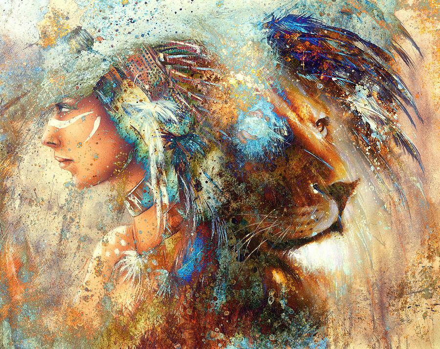 Animal headdress art