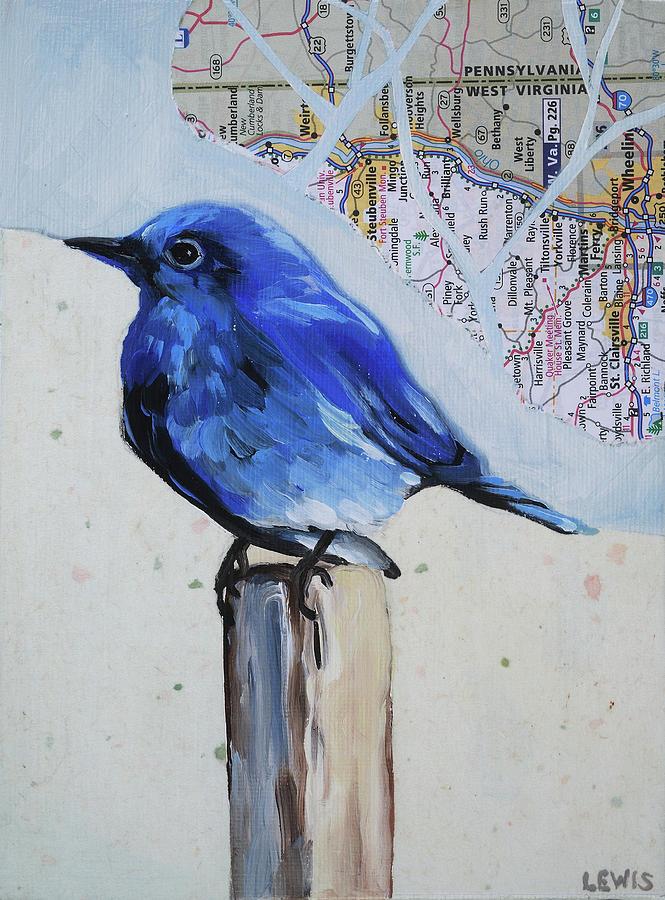 Blue Bird Mixed Media - Blue Bird by Anne Lewis