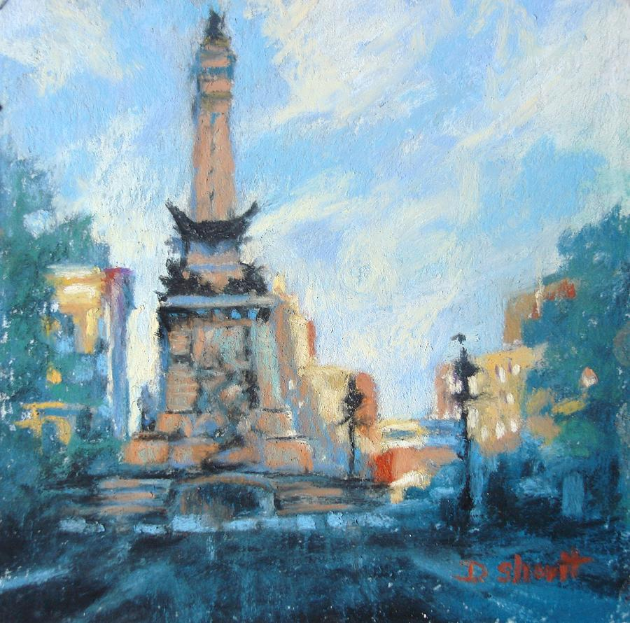 Indianapolis Painting - Indy Circle Day by Donna Shortt