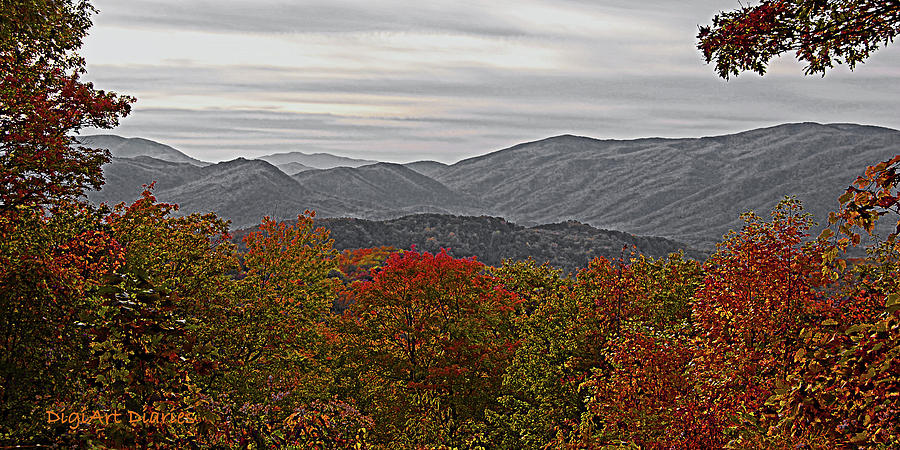 Mountains Digital Art - Infinite Smoky Mountains by DigiArt Diaries by Vicky B Fuller
