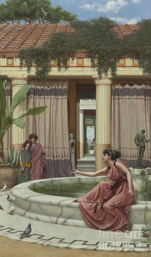 1891 Painting - Innocent Amusements, 1891 by John William Godward