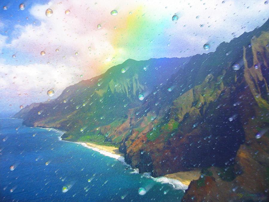 Rainbow Painting - Inside a Rainbow by Robby Donaghey
