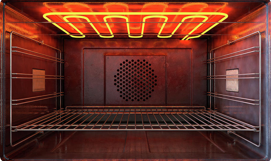 Oven Digital Art - Inside The Oven Front by Allan Swart