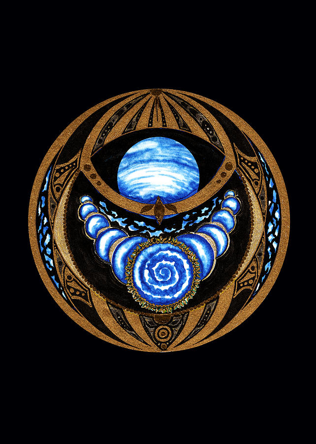 Planets Mixed Media - Inside the Seed Of Imagination by Pam Ellis