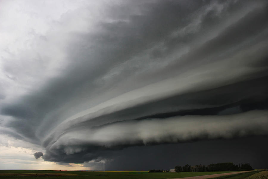 Clouds Photograph - Intense Shelf Cloud by Ryan Crouse