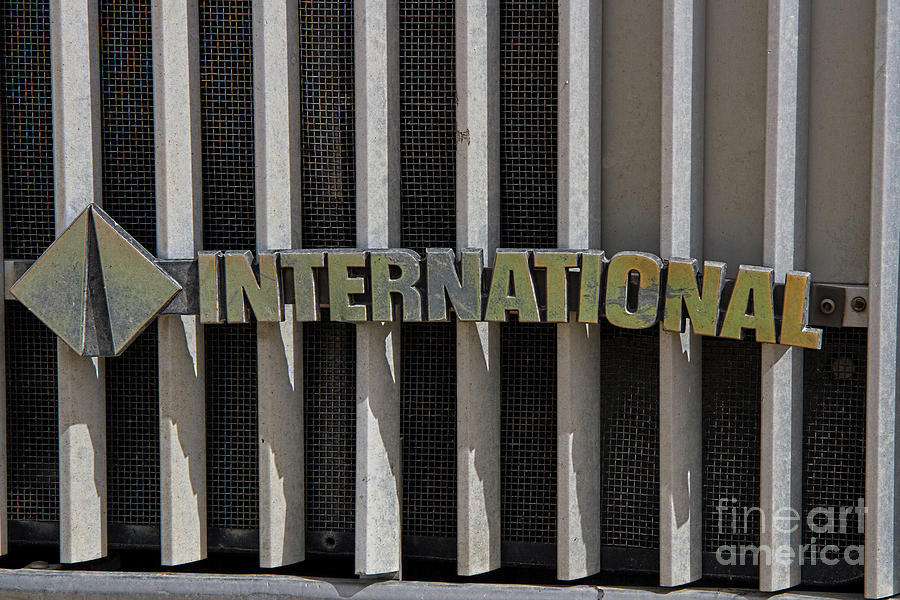 International Photograph - International Semi Truck Emblem by Nick Gray