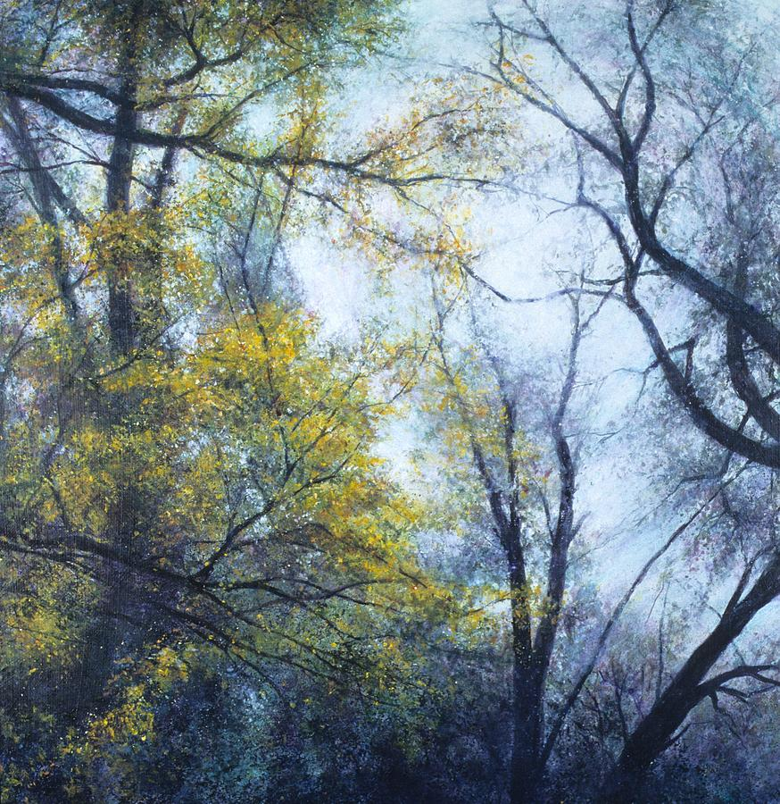 Tree Painting - Intersections by Janet Landrum