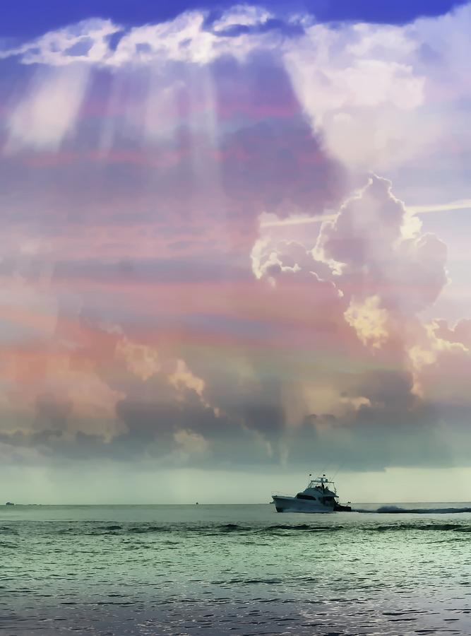Boat Photograph - Into The Light by Sheri McLeroy