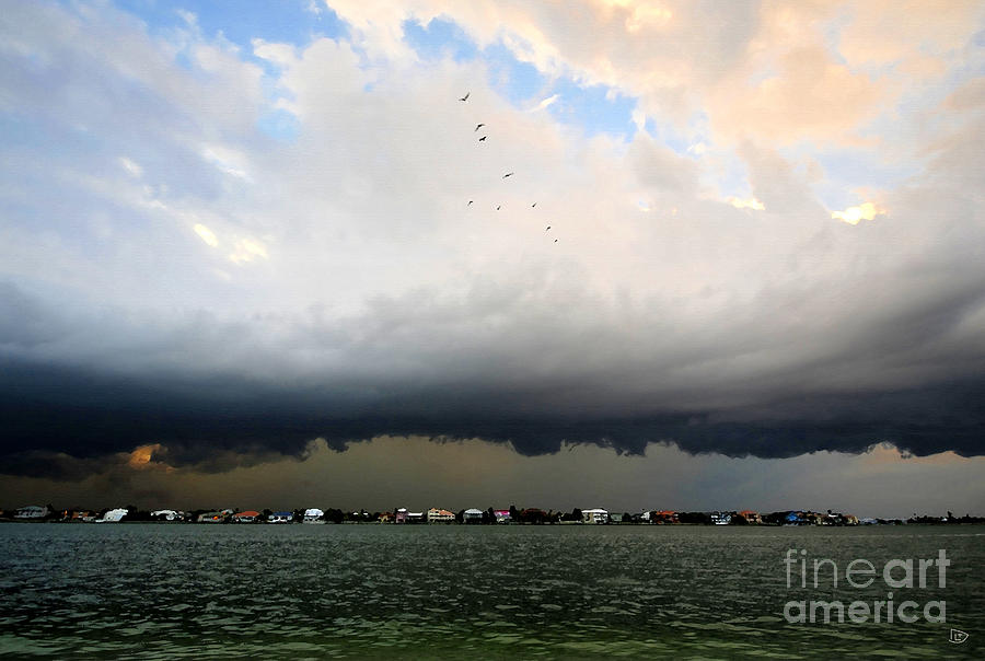 Storm Painting - Into The Storm by David Lee Thompson