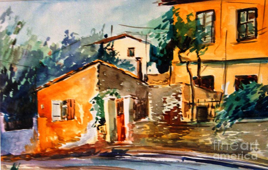 Ipiros Old Houses Painting by George Siaba