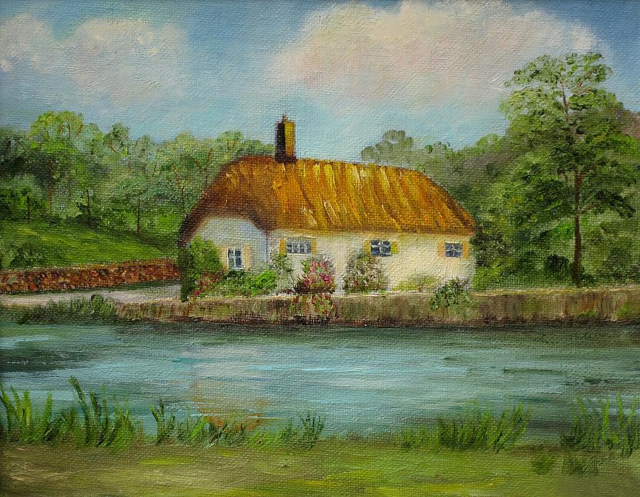 Farm Painting - Irish Cottage by Irene McDunn