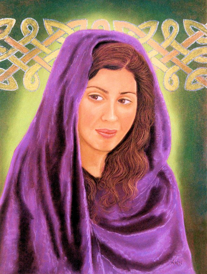 Portraits Pastel - Irish Maiden by Jan Amiss
