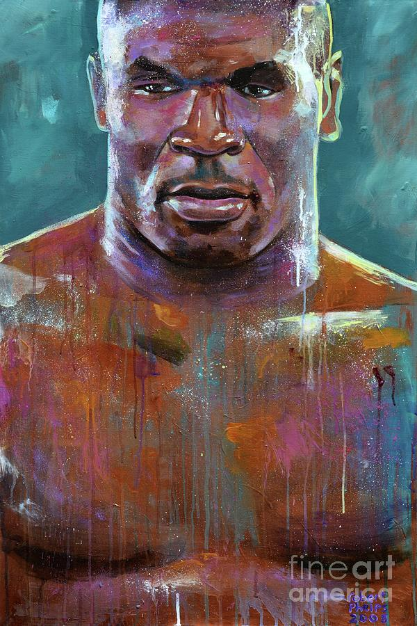 Mike Tyson Painting - Iron Mike by Robert Phelps
