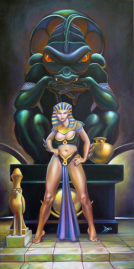 Mermaid Painting - Isis And Osiris by Patrick Anthony Pierson