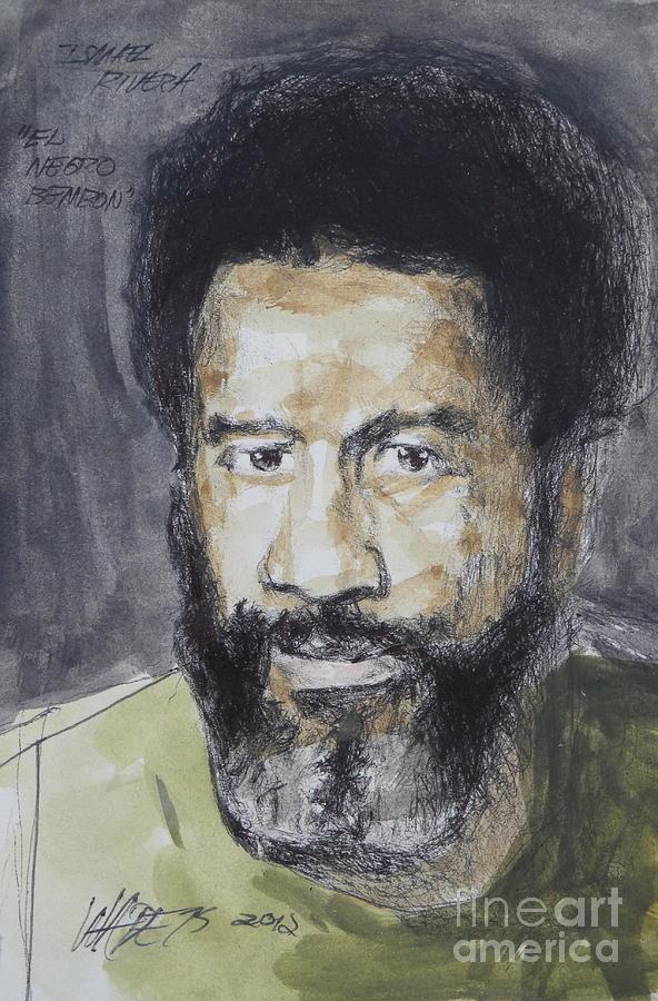 Portrait Painting - Ismael Rivera by Wade Hampton