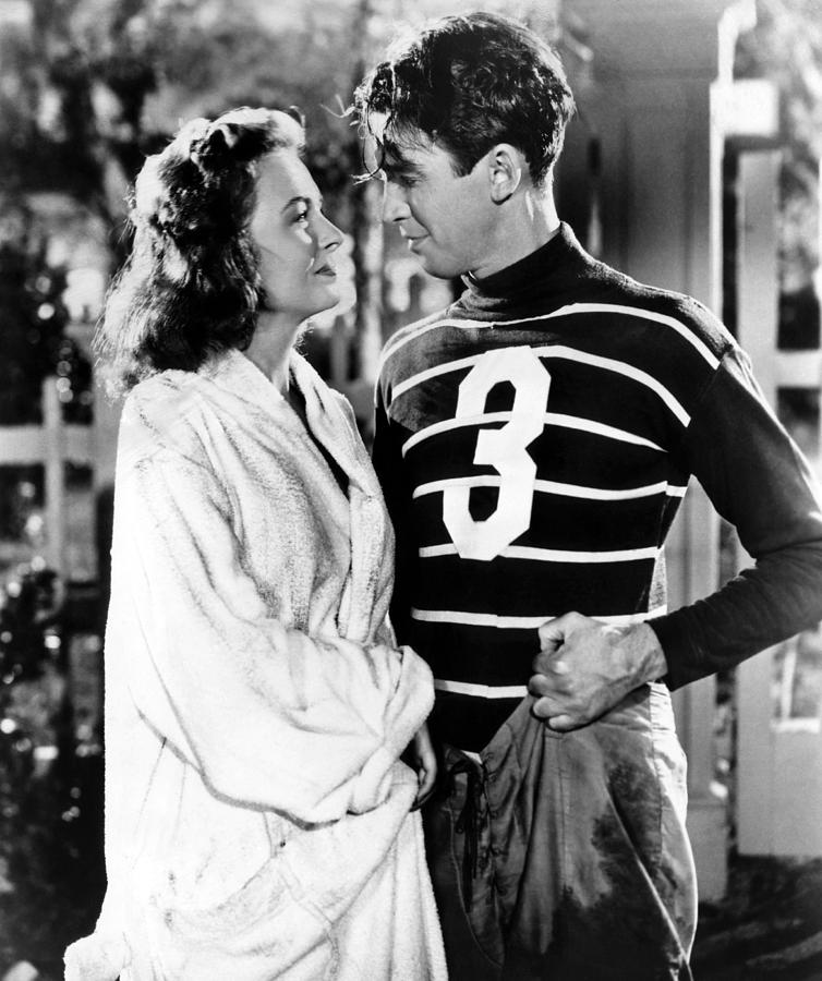 1940s Photograph - Its A Wonderful Life, Donna Reed, James by Everett