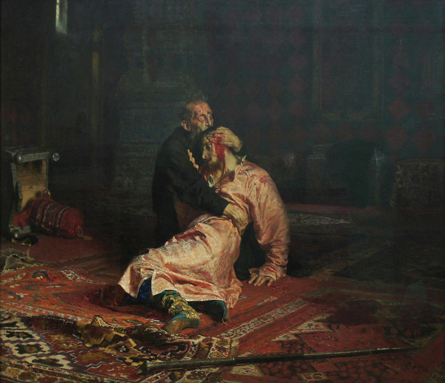Ilya Repin Painting - Ivan The Terrible And His Son Ivan On November 16, 1581 by Ilya Repin