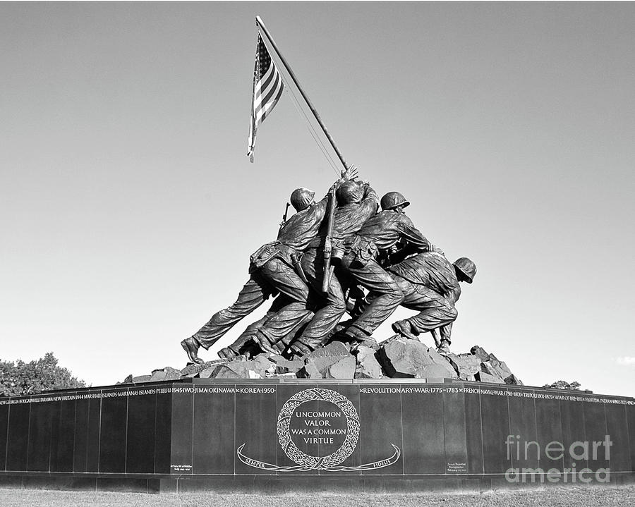 Iwo Jima Marine Corps War Memorial Washington Dc Arlington Virginia Photograph