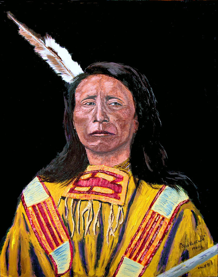 Indian Painting - Jack Red Cloud by Stan Hamilton
