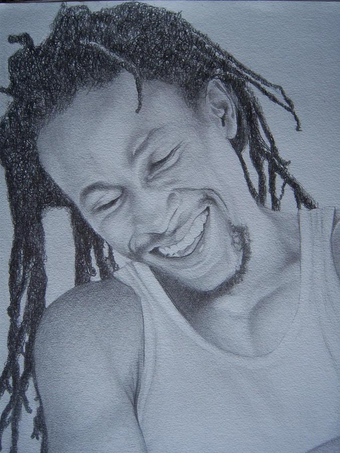 Jah Cure Drawing by Jeffrey Samuels