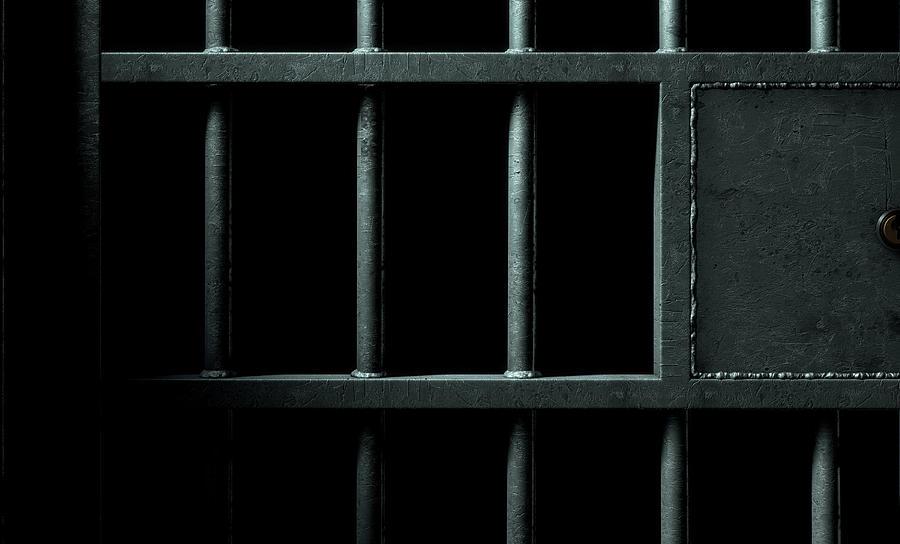 jail cell door digital art by allan swart