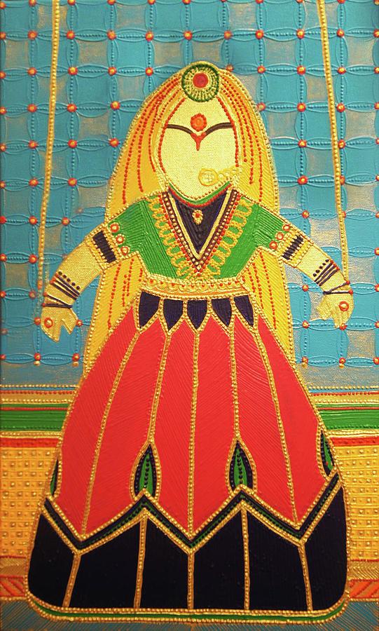 Jaipurs Kathputli Painting by Arpita B Ruparel