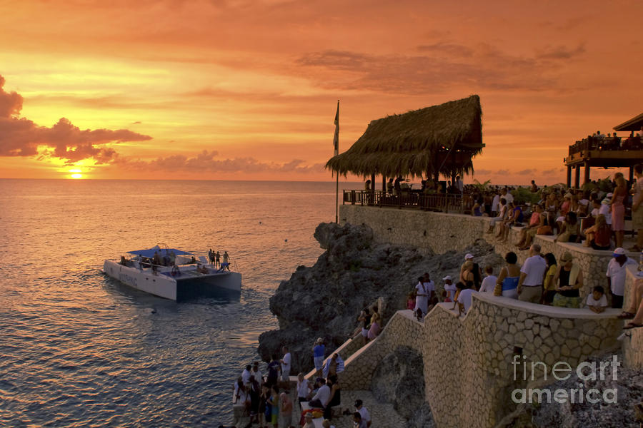 Bar Photograph - Jamaica Negril Ricks Cafe by Juergen Held
