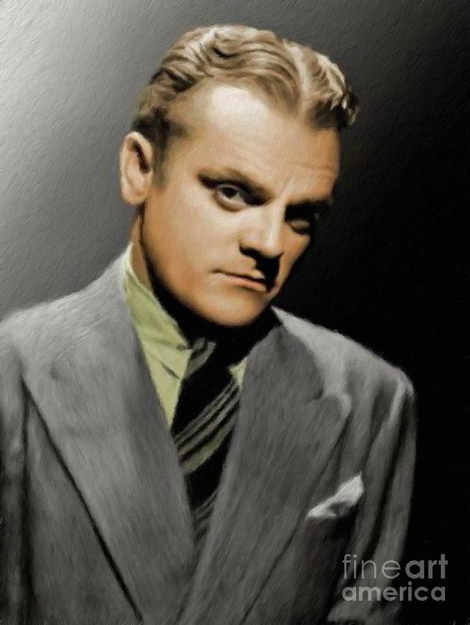 James Painting - James Cagney, Vintage Actor by Esoterica Art Agency