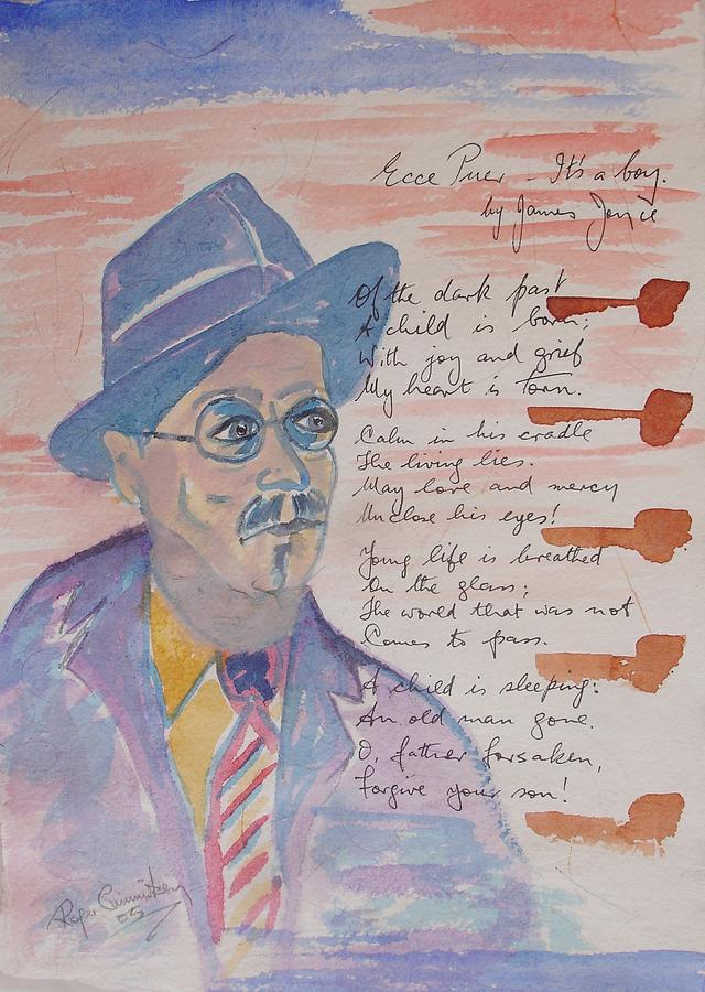 James Joyce Painting by Roger Cummiskey