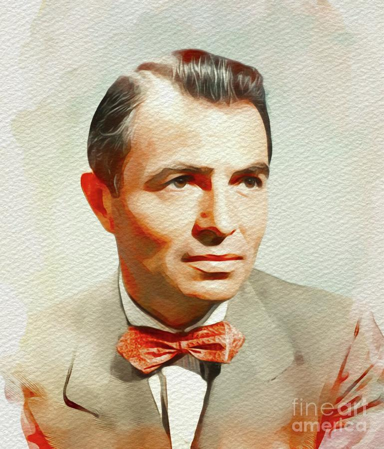 James Painting - James Mason, Vintage Movie Star by John Springfield