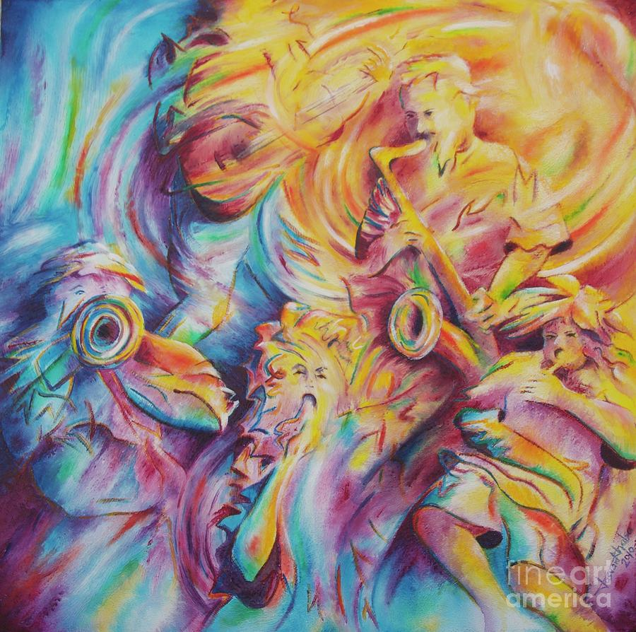 Painting Painting - Jammin by Jaswant Khalsa